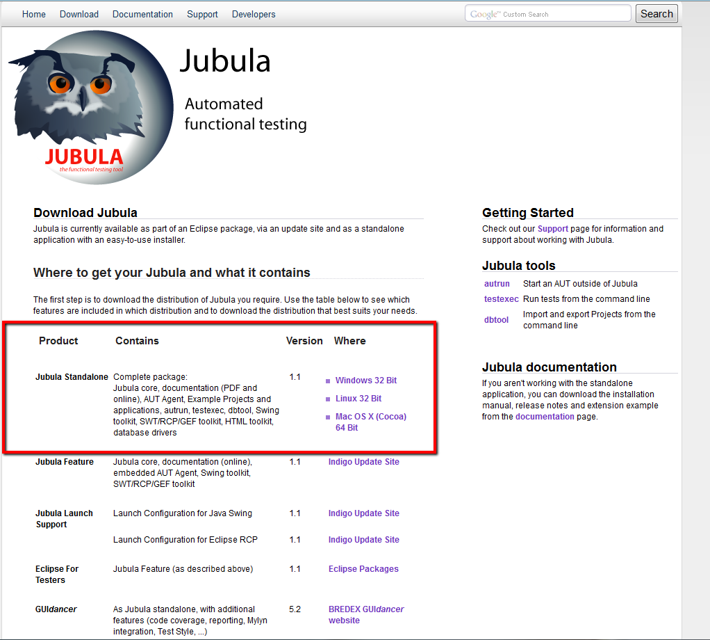 Download Jubula Standalone
