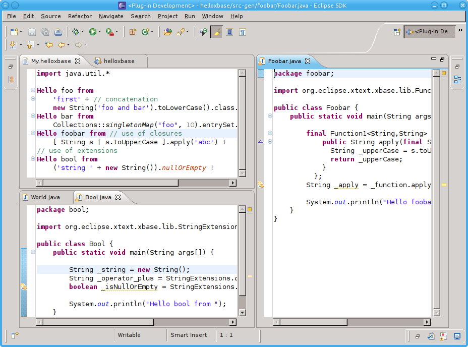 Xtext 2.1: using Xbase expressions | RCP Vision