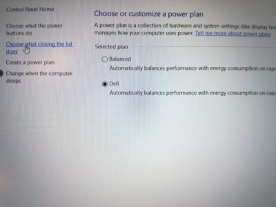 Windows Power & Sleep Advanced Settings link